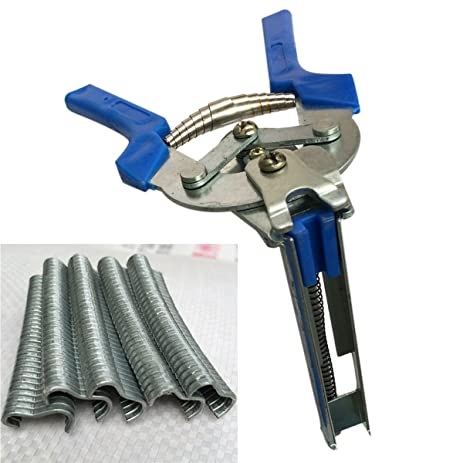 1pc Hog Ring Plier Tool & 600pcs M Clips Chicken Mesh Cage Wire ...