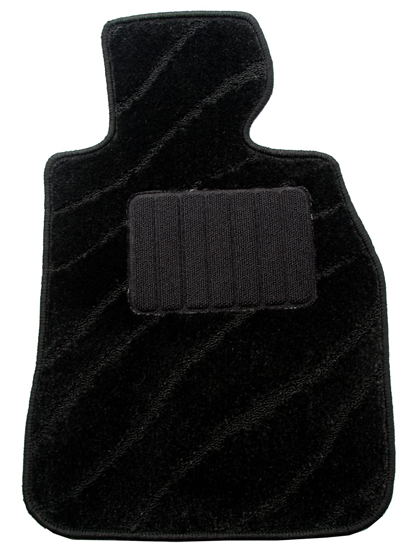 ZERO(ゼロ)フロアマット マツダ MPV H14/4~H18/2 LW3W、LWFW ウェーブ柄 ブラック B008NEHIFU