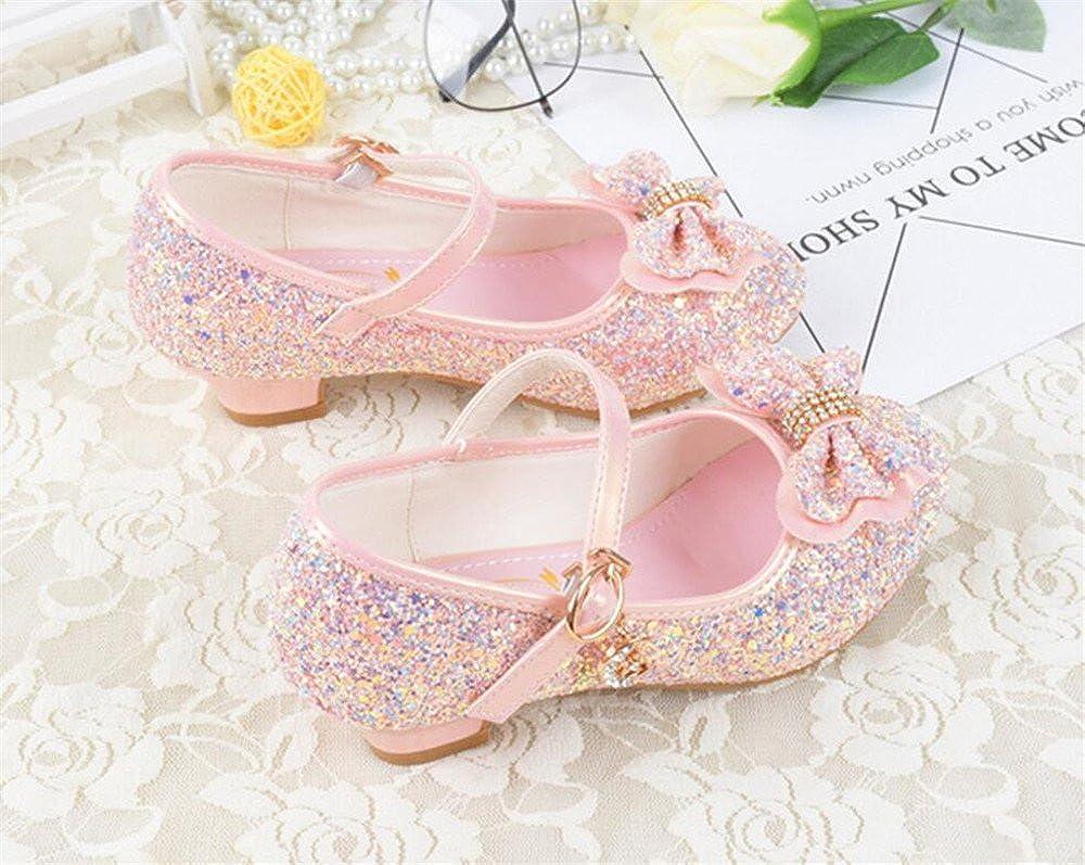 Bon Soir Girls Mary Jane Wedding Party Shoes Glitter Bridesmaids Low Heels Princess Dress Shoes