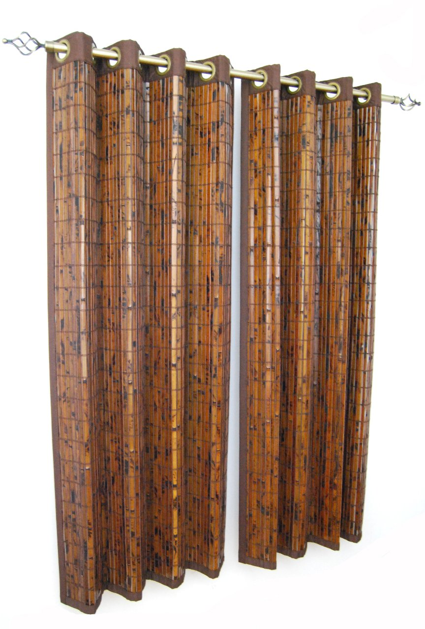 Versailles Home Fashions Bamboo Grommet Panel, 63-Inch, Espresso BP034263-93
