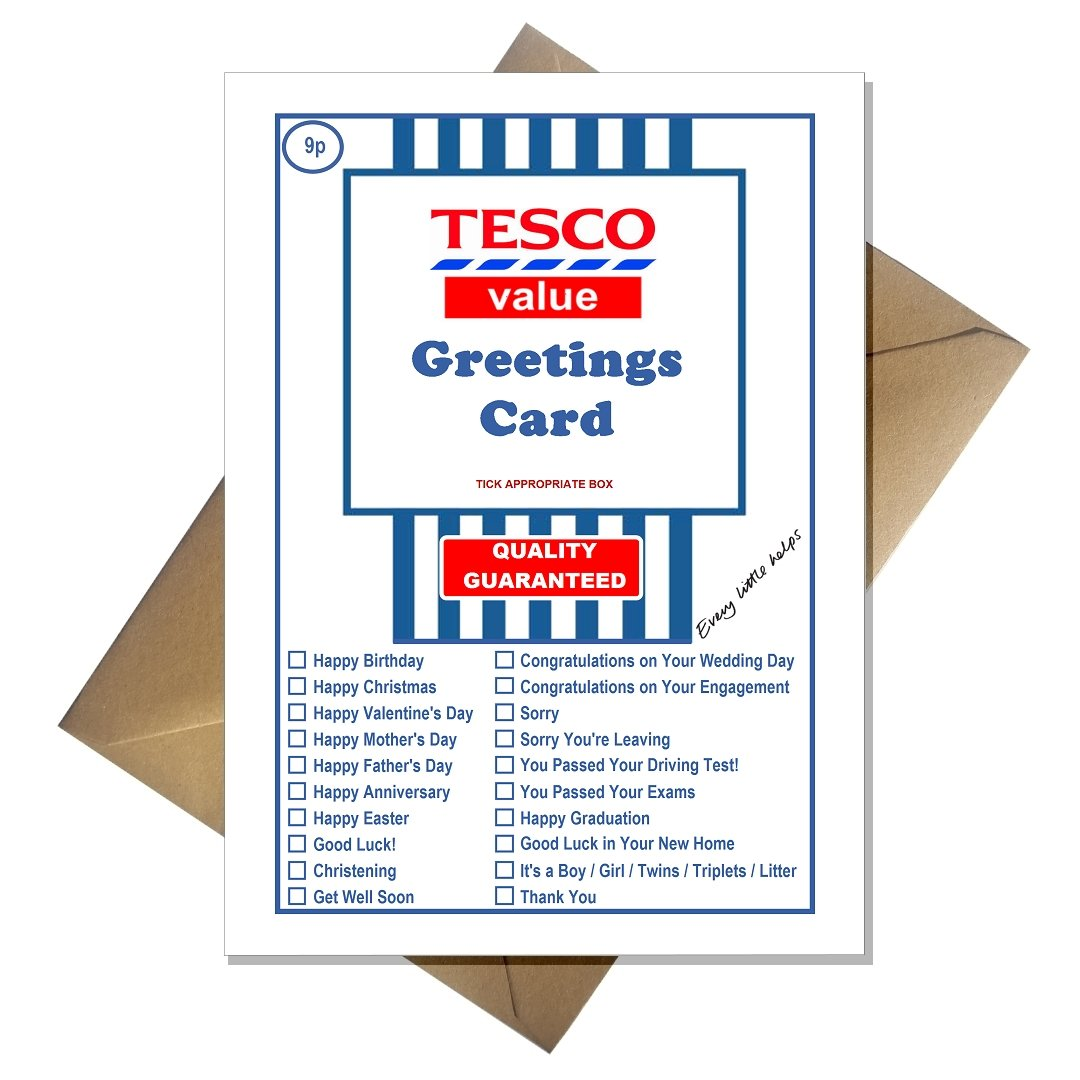 Tesco value funny joke greetings card for literally any occasion tesco value funny joke greetings card for literally any occasion amazon office products negle