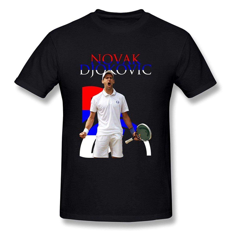 Amazon Com Zelura Men S 2015 U S Open Novak Djokovic T Shirts Black S 6060015299084 Books