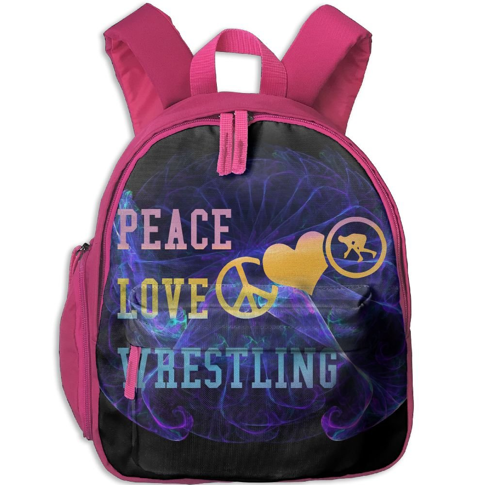 Peace Love Wrestling Lightweight Cute Durable Cute Snack Backpack Best For Toddler
