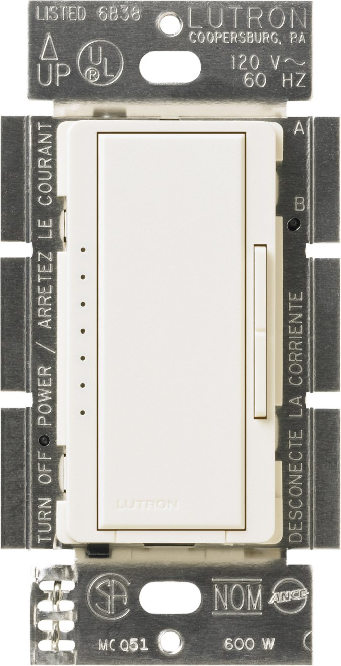 Lutron MSC-1000M-BI Maestro 1000-watt Multi-Location Digital Dimmer, Biscuit