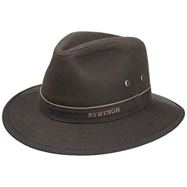 39bdf5be91b Stetson Avasun Waxed Cotton Traveller outdoor hat cloth  Amazon.co ...