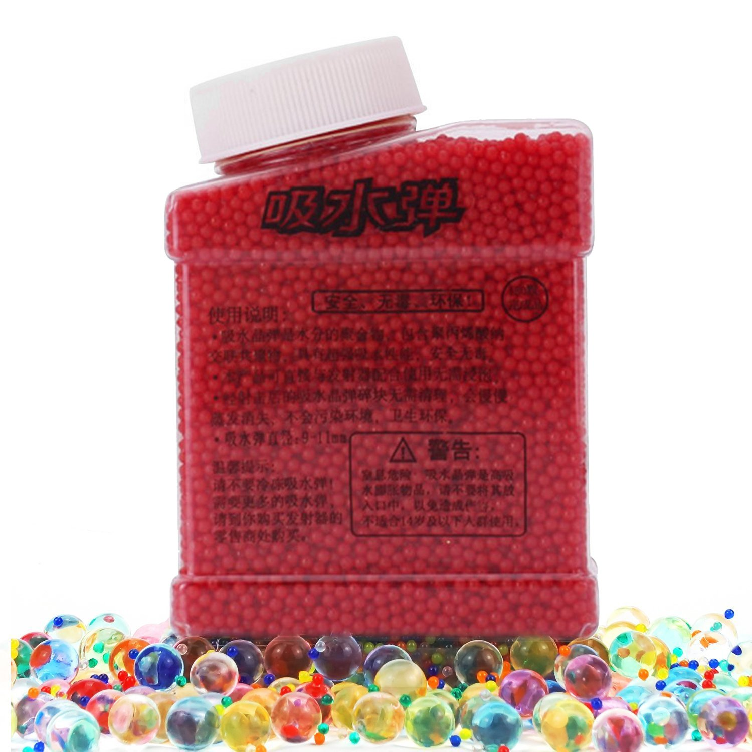 Water Beads Rainbow Mix Pearl Shaped Crystal Soil Jelly Water Growing Balls for Orbeez Refill,Kids Tactile Toys,Sensory Toys,Vase Fillerr,Plants Craft,Party,Home Decoration,20000pcs/Pack (Mixcolor) Suces