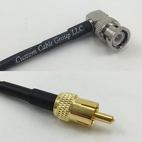 6 Inch rgu178 ángulo de macho BNC a RCA macho Jumper Pigtail RF Coaxial 50ohm Cable