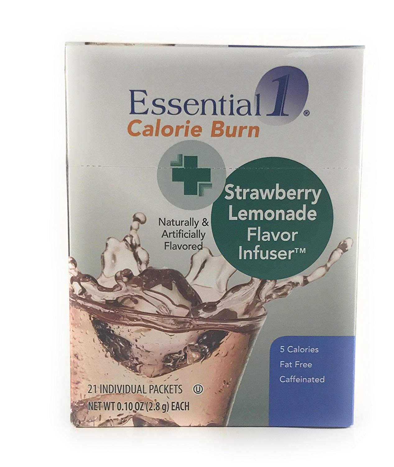 Medifast Essential1: Calorie Burn Strawberry Lemonade Flavor Infuser (1 Box/21 Servings)