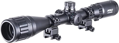 Pinty 4-16X40 Rifle Scope AO Red Green Blue Illuminated Mil Dot Reticle