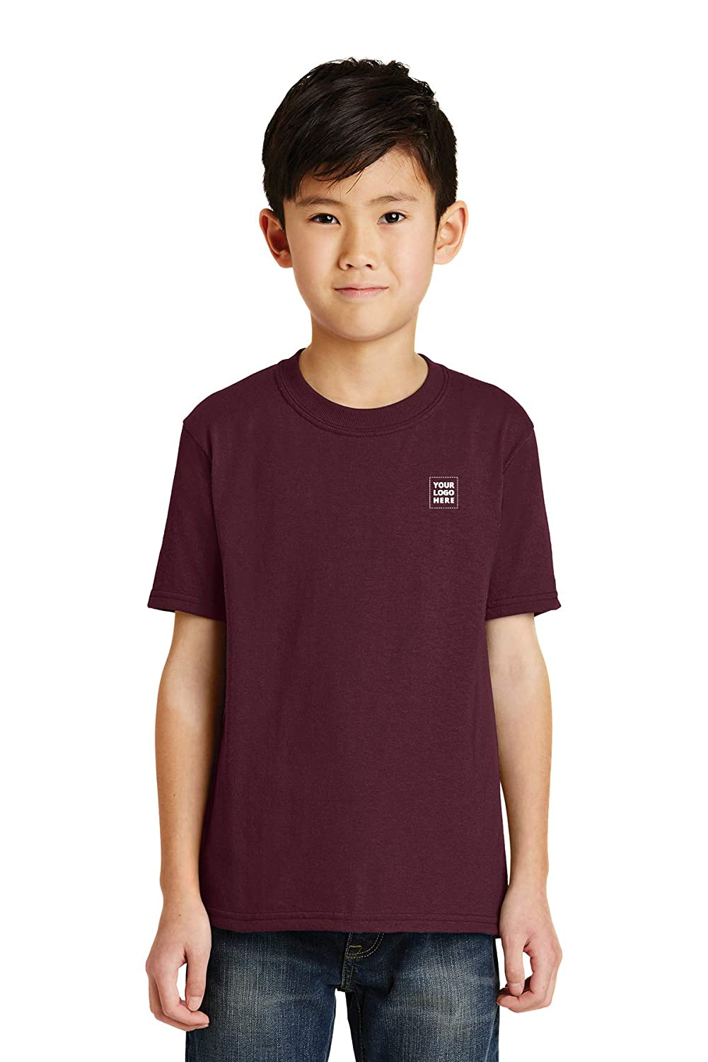 24 Qty Promo Direct Youth Core Blend Tee Customized Tee w//Your Imprinted Logo