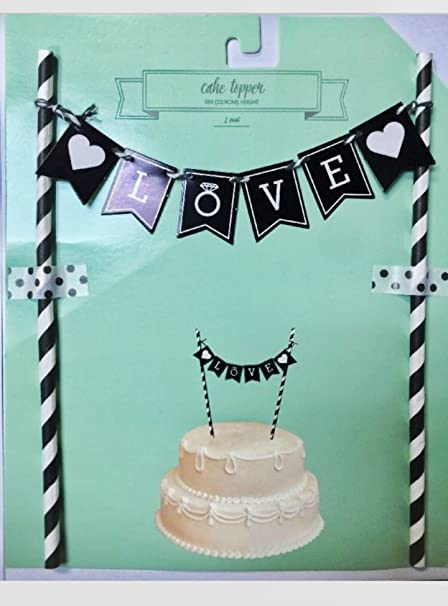 cake topper banner bunting for wedding cake engagement party bridal shower bachelorette