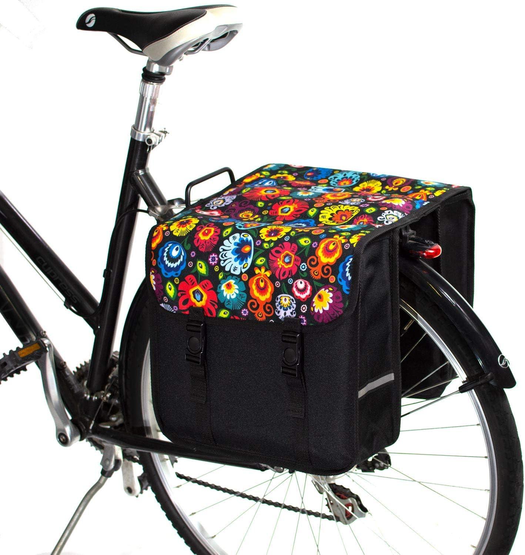 BikyBag Clásica - Doble Alforjas Bolsa para Bicicleta (Margarita): Amazon.es: Deportes y aire libre