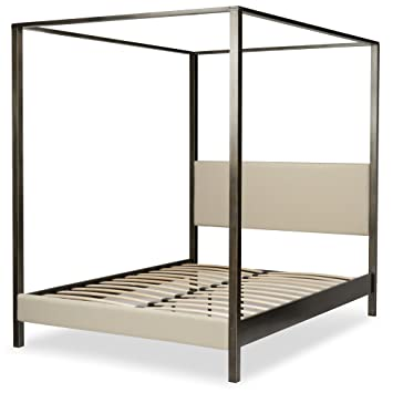 Amazon Com Avalon Canopy Platform Bed With Platinum Upholstered