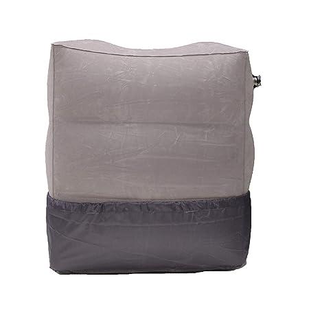 Cojín hinchable portátil de PVC Sonicee para descansar los pies, almohada para viaje, para cama de niños, sofá, para volar, para el coche o la ...