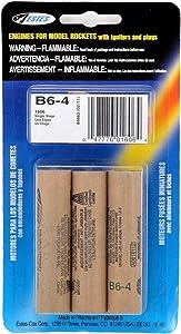 Estes B6-4 Engine Pack (3-Each), Brown