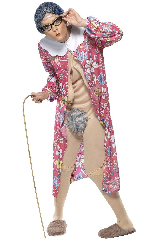 Smiffy's Adult Gravity Granny Old Lady Fancy Dress Costume Medium UK Dress  12-14