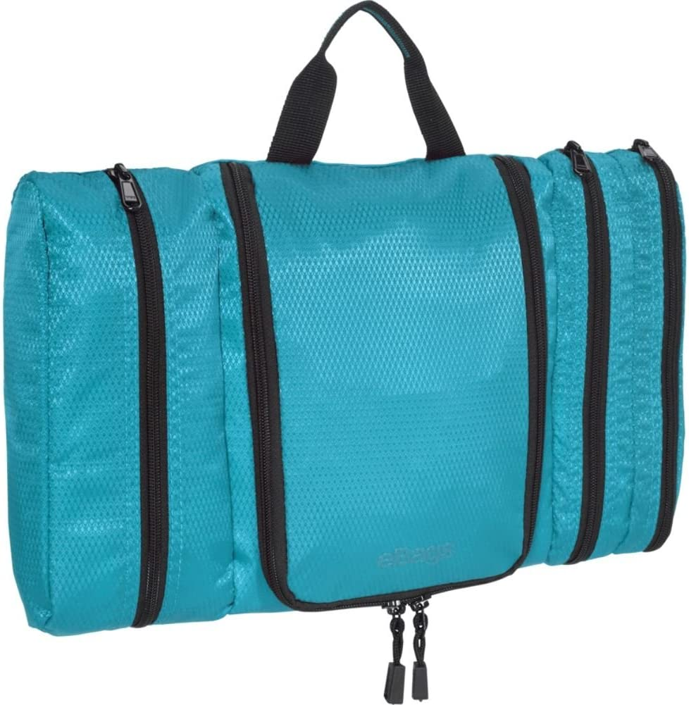 eBags Pack-it-Flat Hanging Toiletry Kit for Travel - (Aquamarine)