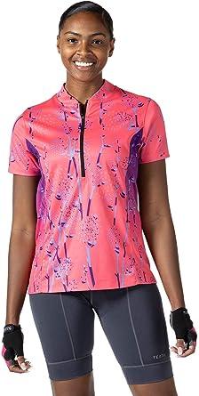 Womens Short Sleeve UPF 50 Terry Breakaway Jersey Shirt