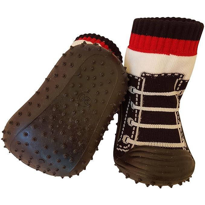C2BB - Calcetines con suela antideslizante para niños | Zapatilla de deporte negras - Talla: 25: Amazon.es: Ropa y accesorios