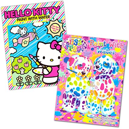 57a5fdd47 Amazon.com: Lisa Frank and Hello Kitty Paint with Water Books, 16 Tear Out  Pages (2 Books), covers(vary): Toys & Games