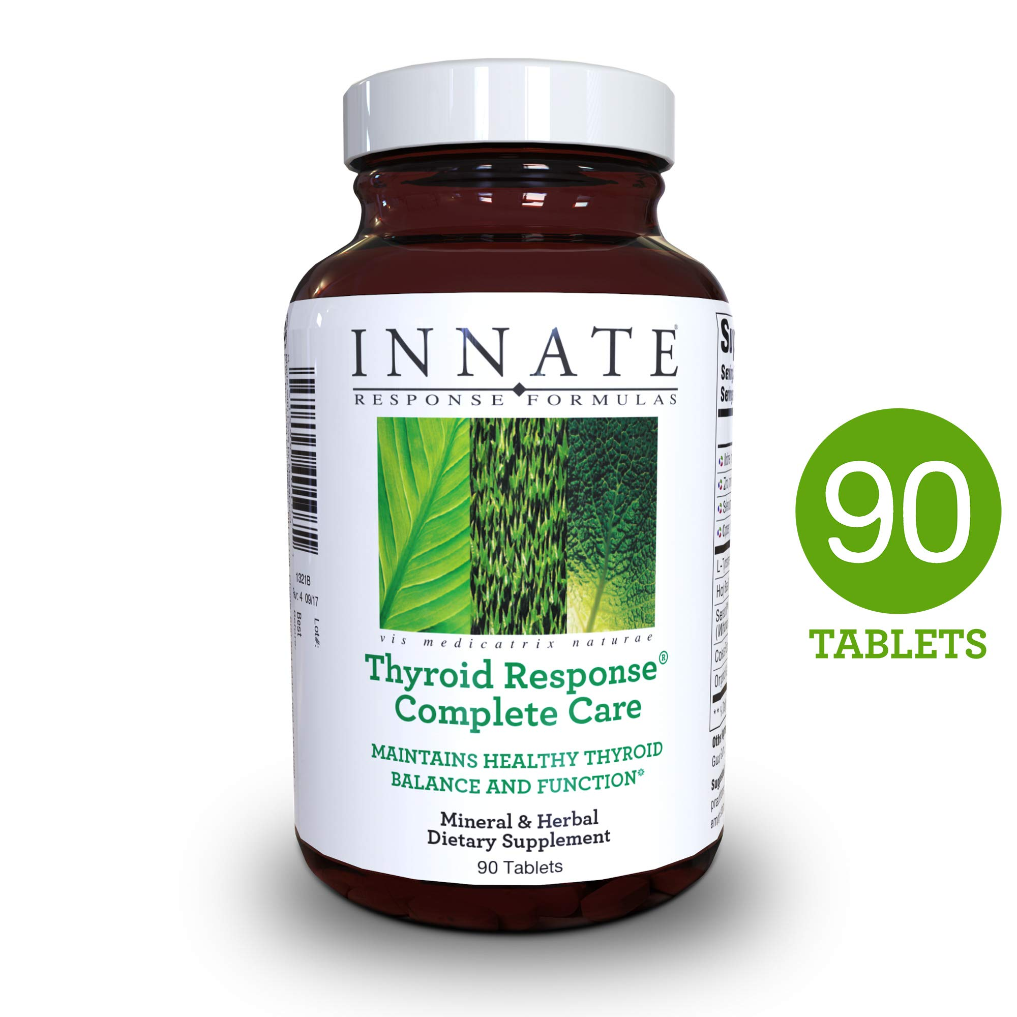 INNATE Response Formulas - Thyroid Response Complete Care, Supports Healthy Thyroid Function, 90 Tablets by INNATE Response Formulas