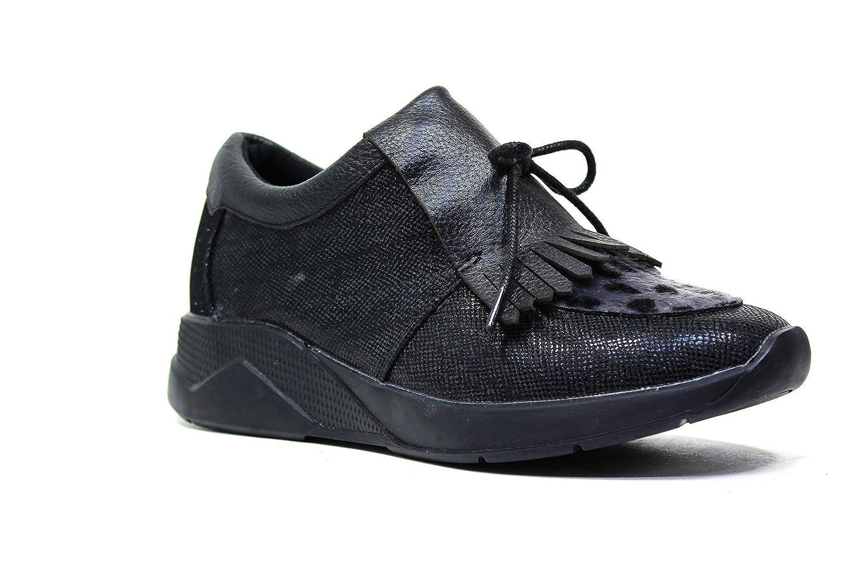 Lee Roy Sneakers in Pelle Donna Colore Nero L381 Black Nuova Collezione  Autunno Inverno 2016 2017  Amazon.it  Scarpe e borse 9c9ce8d640d