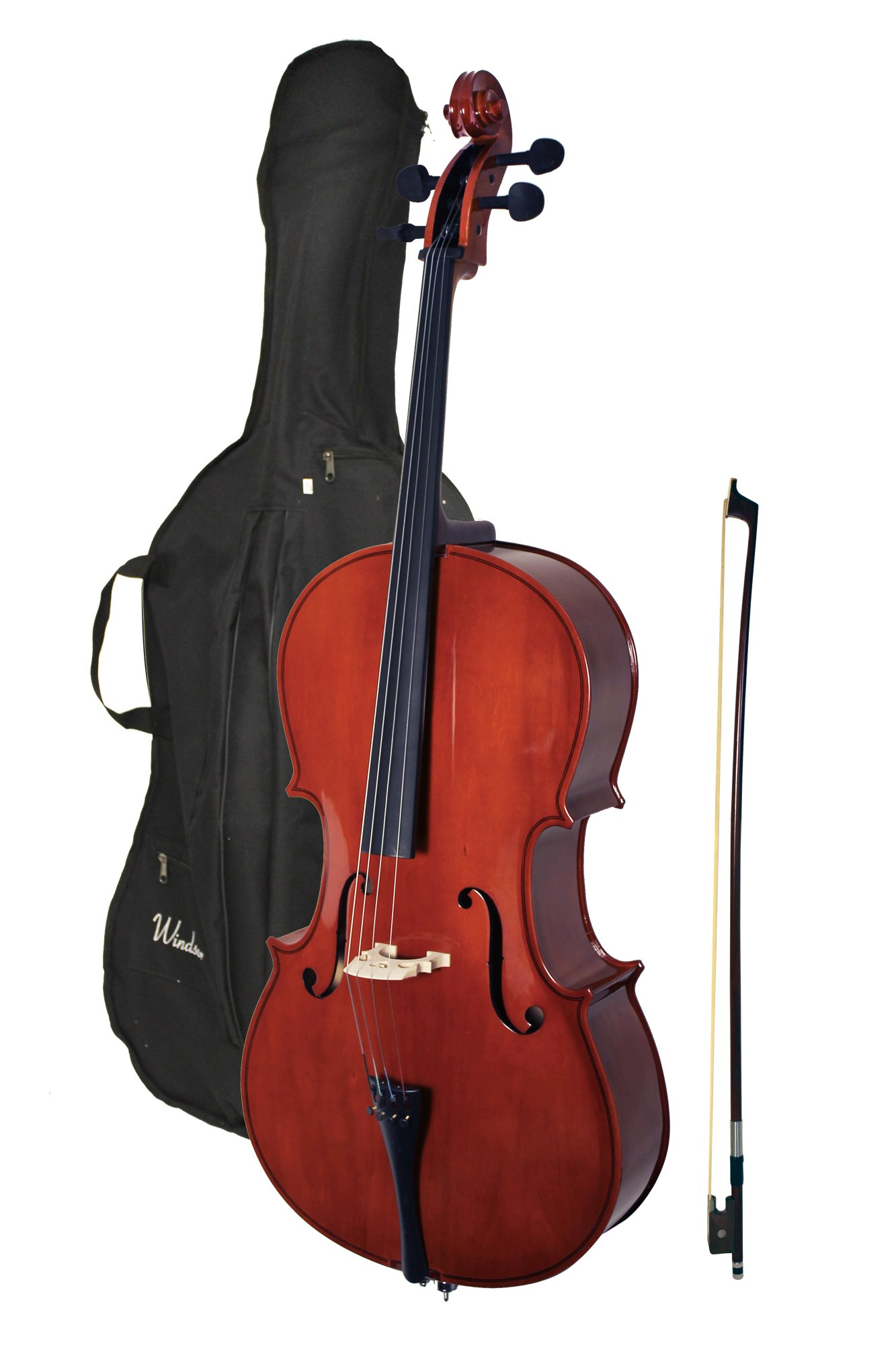 Windsor MI-3006 Windsor 4/4 Size Cello with Padded Bag