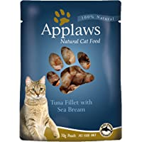 Applaws Tuna Sea Bream Cat Broth Pouch, 70g Pouches (Pack of 16)