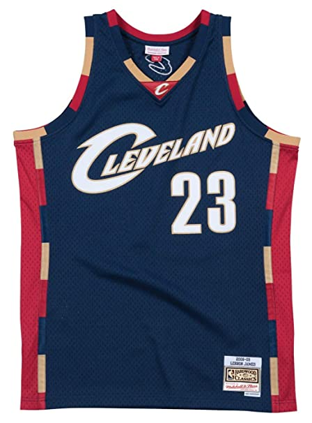 ea2d8a2fb387 Mitchell   Ness Cleveland Cavaliers Lebron James 2008 Alternate Swingman  Jersey (Small)
