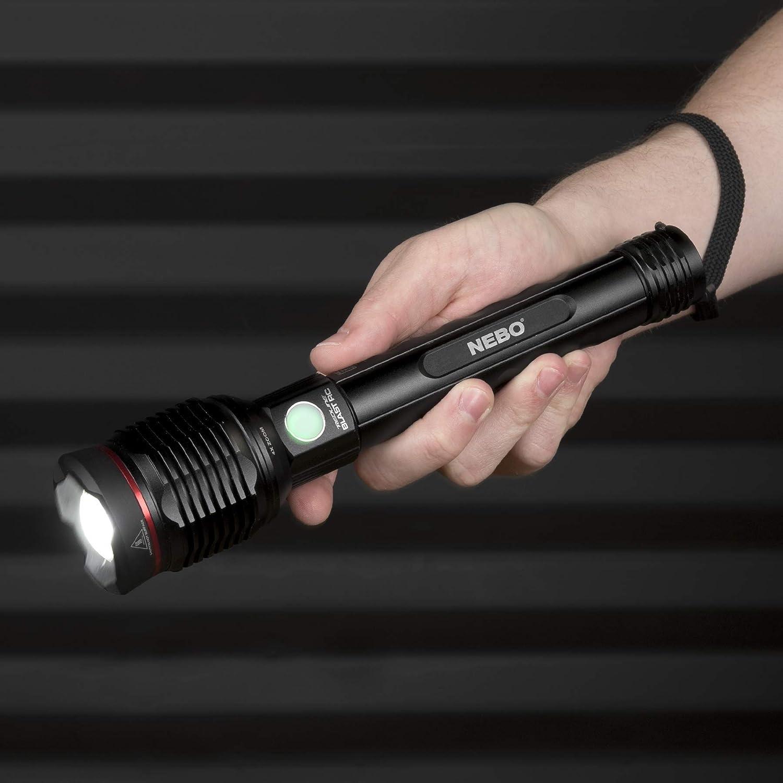 color negro Nebo NE6697 Redline Blast RC 3200 Lumen linterna recargable e impermeable