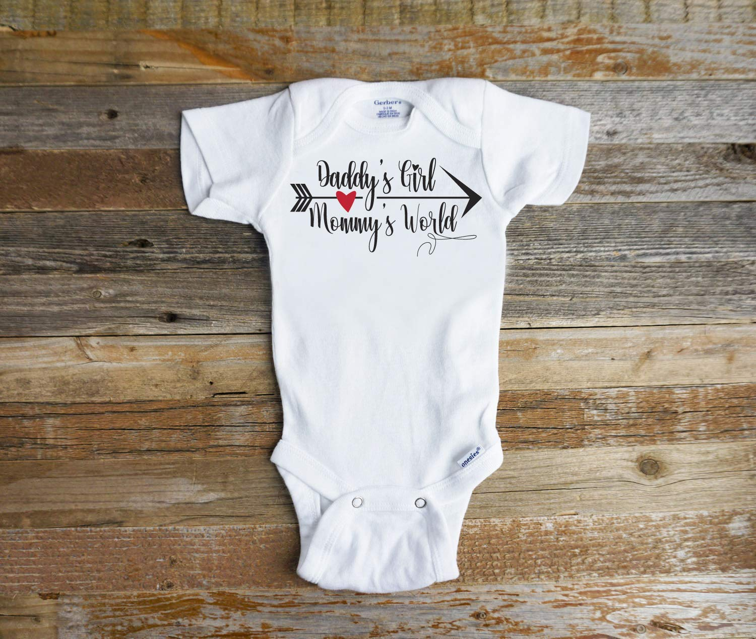 054cfd394 Daddy's Girl Mommy's world onesie or shirt [1541002967-255409] - $11.36