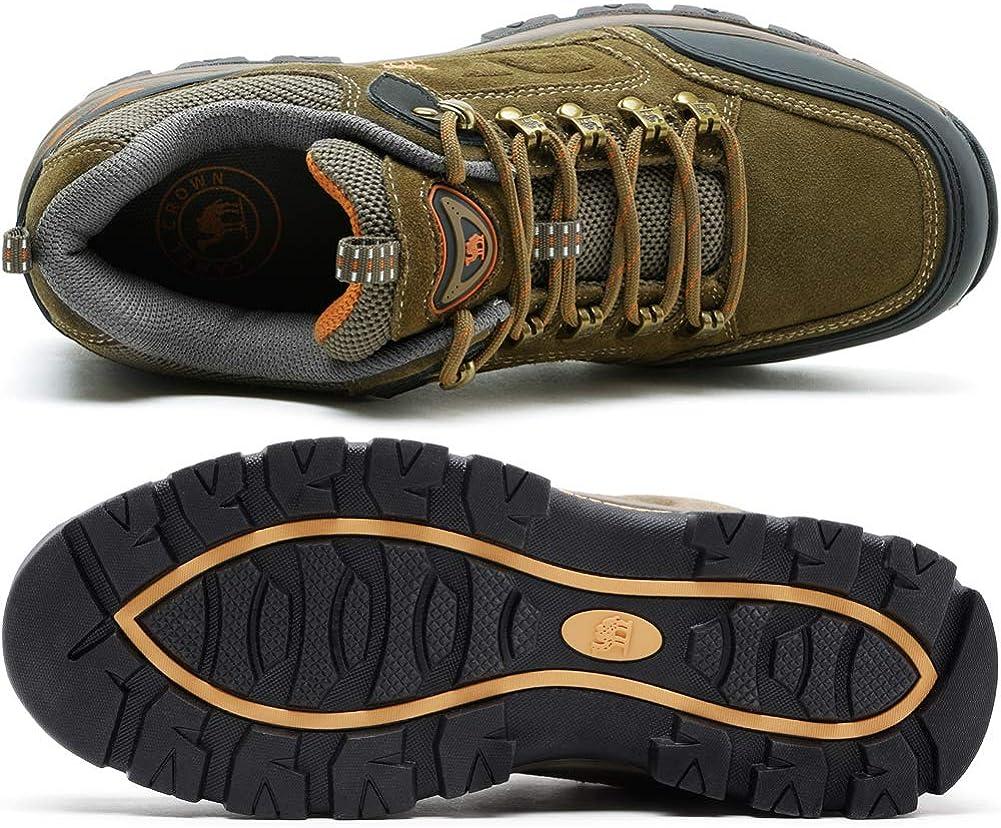 CAMEL CROWN Homme Femme Chaussures de Randonn/ée Basses Imperm/éable Lac/ées Plates Respirant Anti-D/érapant Outdoor Sneakers de Formation de Voyage pour La Marche Escalade Trekking