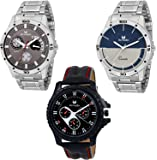 Armado Analogue Grey Dial Men's Watches - Combo of 3
