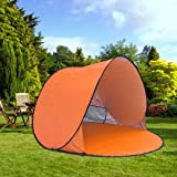 RIJER Automatic tent Pop up Instant Portable Cabana Family Beach Tent and Sun Shelter Anti UV Cabana (2-3 person)UPF 50+