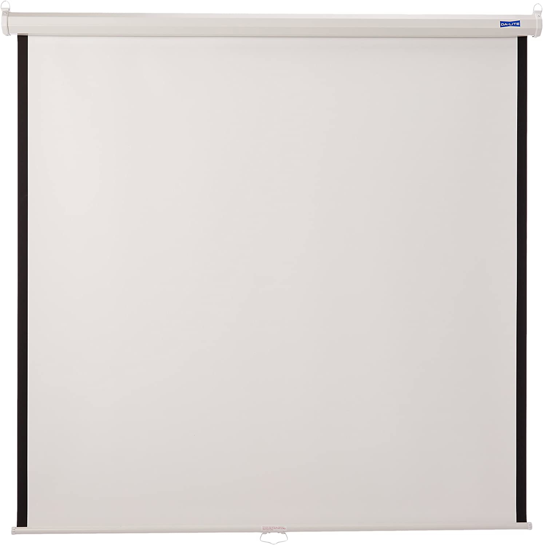 Amazon Com Da Lite 60x60 Model B Manual Screen Wall Ceiling Matte White 40184 Home Audio Theater