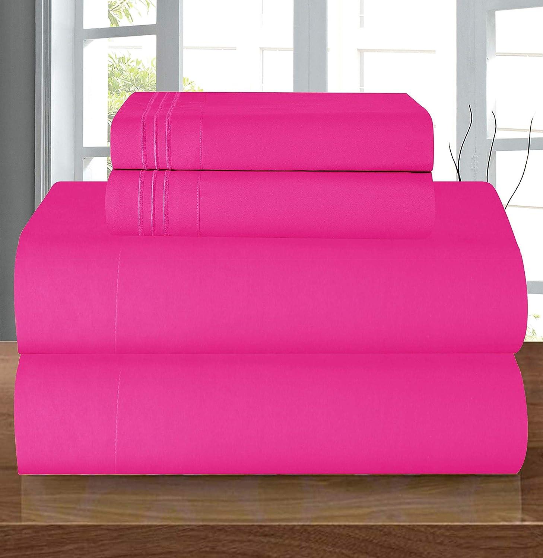 Elegant Comfort Luxury Soft 1500 Thread Count Pink Bed Sheet