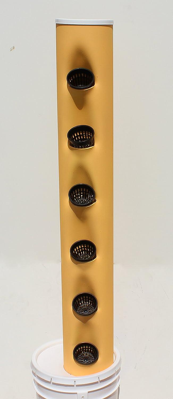 Go Go Minnow - Vertical Hydroponic Garden Tower - 6 Pockets + Cups