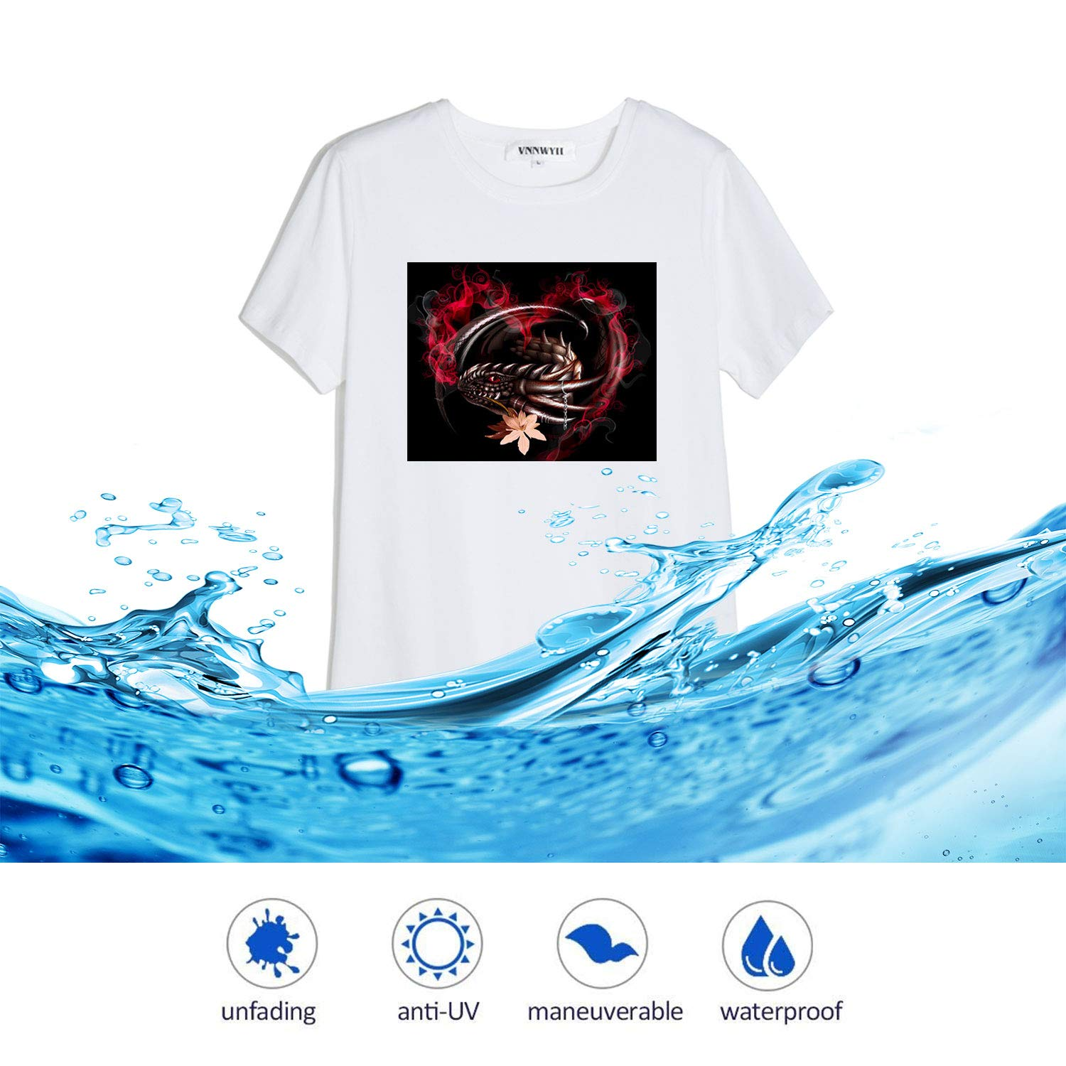 5b18eb7a ... Koala 28 Sheets Iron-On Light T Shirt Transfer Paper 8.5x11 Compatible  with All ...