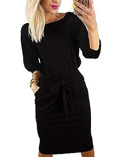 Odosalii Damen Halloween Kost/üm Bedrucktes Cocktailkleid Langarm Party Abendkleid Lange Kleider A-Linie Swing Minikleid