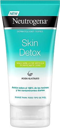 Neutrogena Detox Mascarilla Arcilla Purificante 2 En 1) - 150 ml.