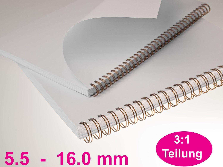 Bindemaschine für Drahtbindung mit Teilung 3:1 Draht Bindegerät Falambi UW 15