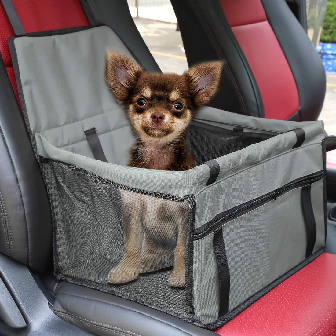 X AUTOHAUX Hunde Autositz f/ür kleine mittlere Hunde,wasserdicht Vordersitz Hundesitz Autositzbezug mit Verst/ärkte W/ände f/ür Haustiere Reise