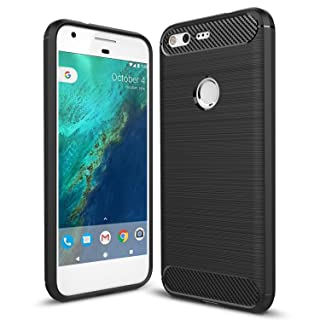 Taorey Case For Google Pixel Case, Carbon Fiber Case with Resilien Shock Absorption and Luxury Slim for Google Pixel 2016 - Black