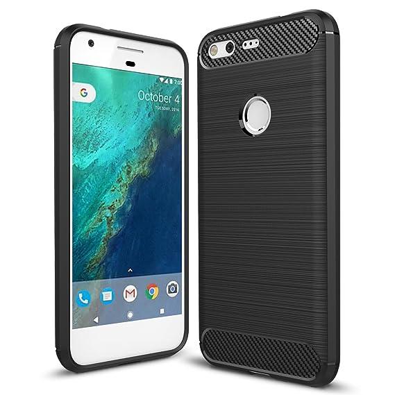 hot sale online d6b45 dd09e Taorey Case for Google Pixel Case, Carbon Fiber Case with Resilien Shock  Absorption and Luxury Slim for Google Pixel 2016 - Black