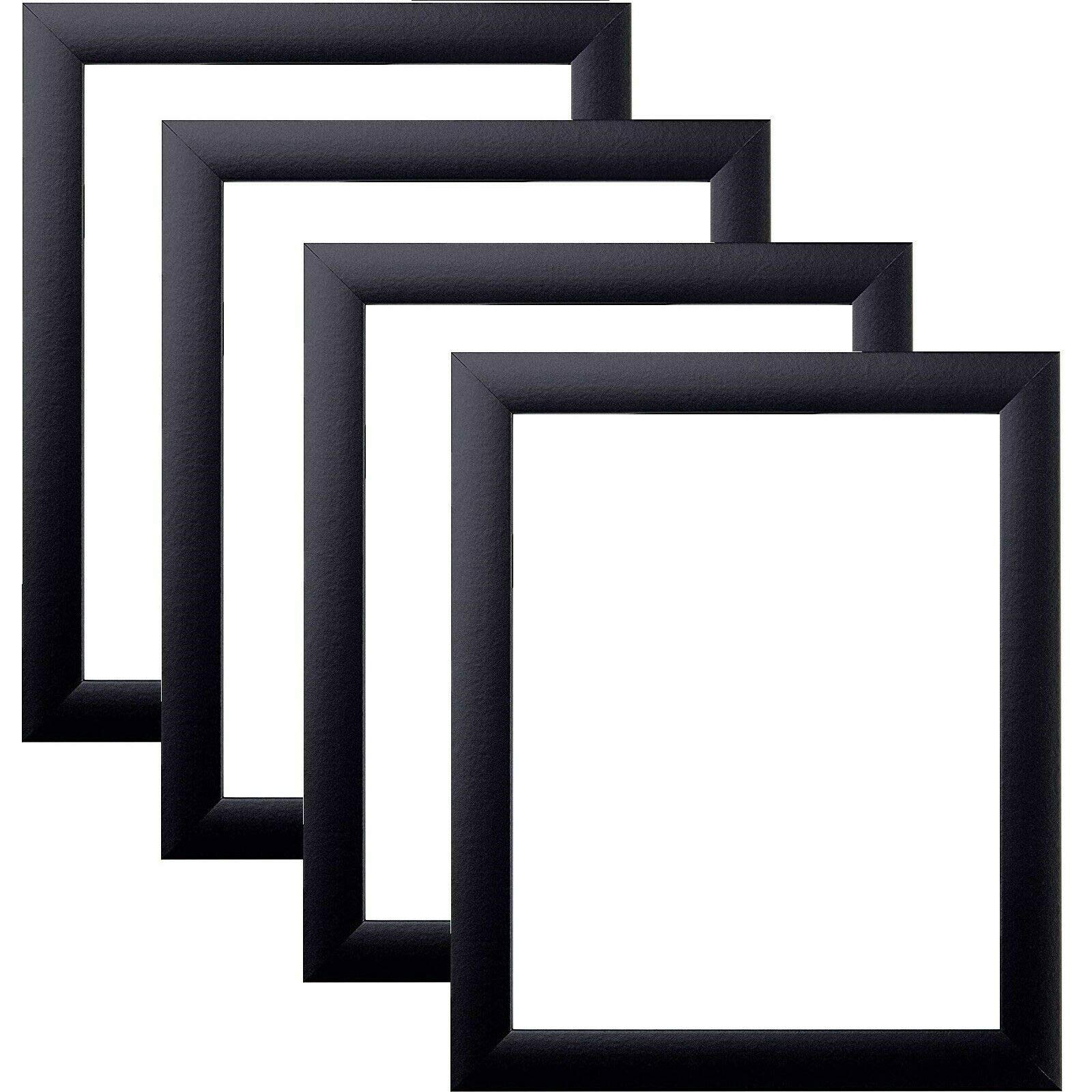 US Art Frames 17 x 22 Black Nugget 1 Inch, Wood Composite MDF Picture Photo Poster Frame, Set of 4