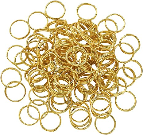 6mm 100pcs Gold Plated Split Dbl Jump Rings Jewelry Findings Earrings Necklace