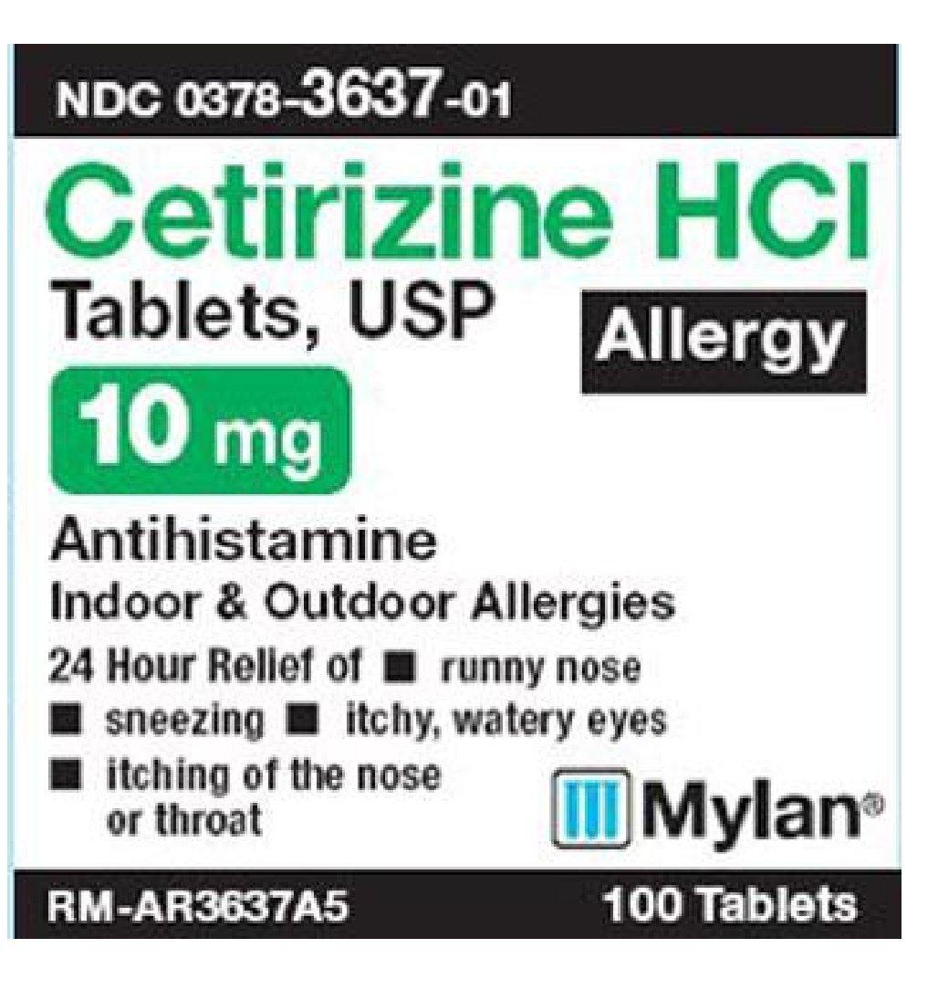 CETIRIZINE 10 MG TAB 100 [Health and Beauty]