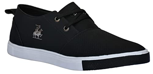 Black Mesh Lace-Up Casual Shoes