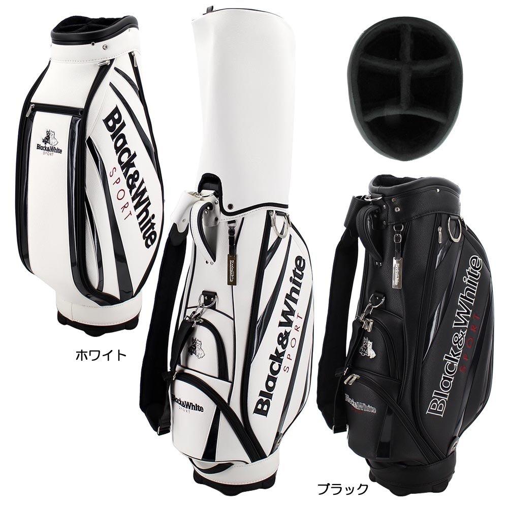 ブラック&ホワイト Black&White キャディバッグ BWMG7ZC1 B073Y7J4QD ホワイト ホワイト