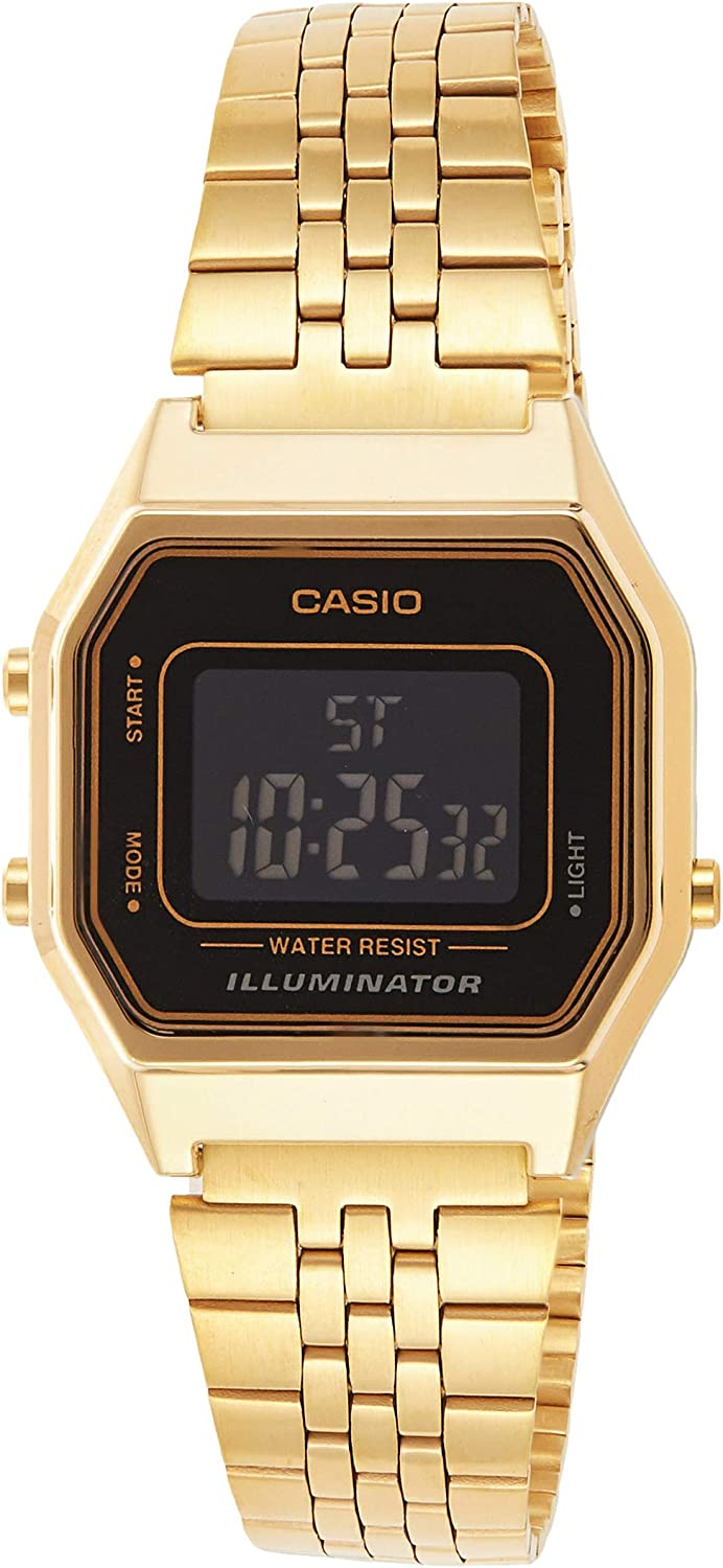 Casio LA 680WG 1B Montre à Mouvement Quartz: Casio: Amazon  zHBNh
